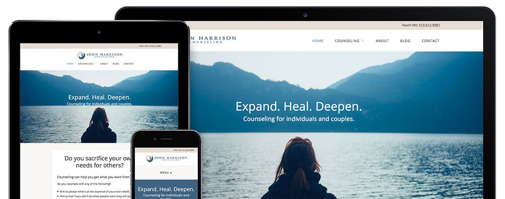 Psychotherapy Website by Kat Love for John Harrison Counseling