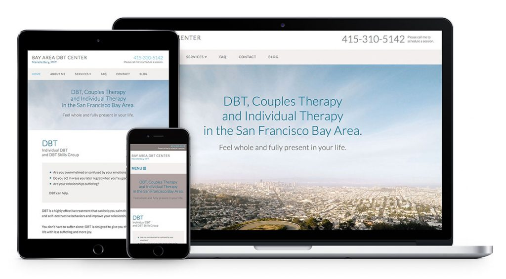 Psychotherapy Website Design for Bay Area DBT