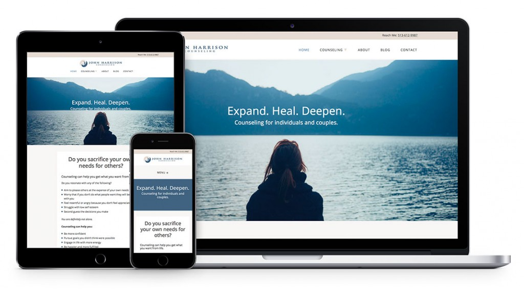 Psychotherapy Website Design for John Harrison by Kat Love