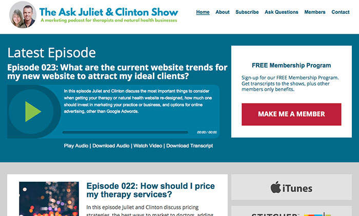 Ask Juliet And Clinton Podcast