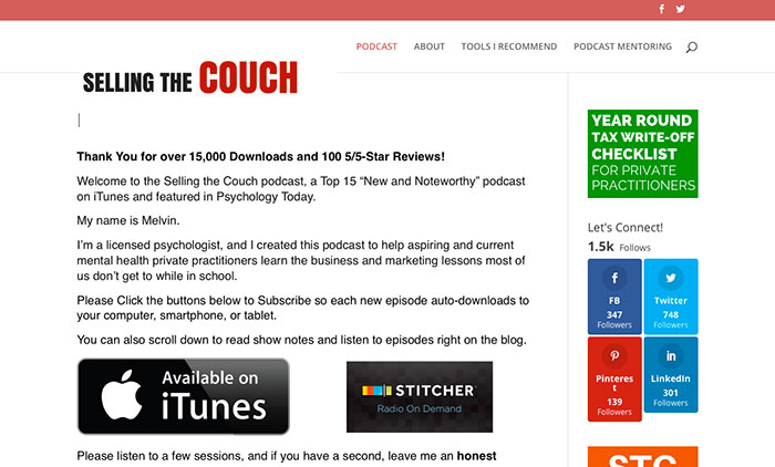 Melvin Varghese Selling the Couch Podcast